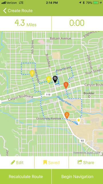 A 4-mile tour of Boulder, CO created with FASTZach.