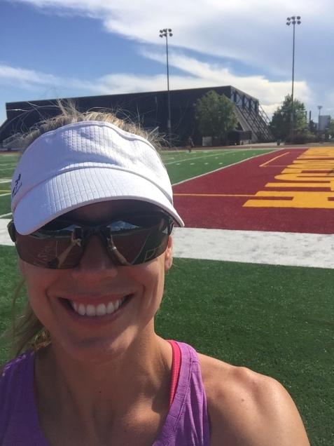 Right & Left: Rebekka running in Minnesota